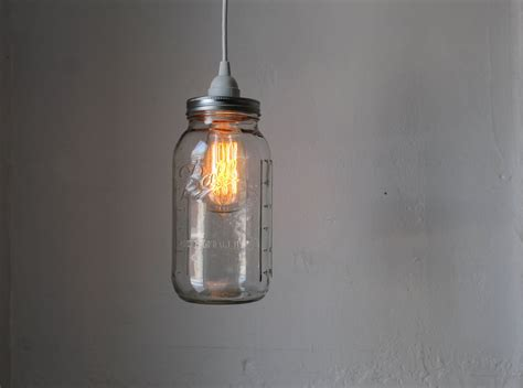 Jar Pendant Light Jar Pendant L Large Half Gallon Jar Hanging