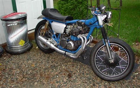 1973 honda cb350f troubled past by cold hearted custom cycles