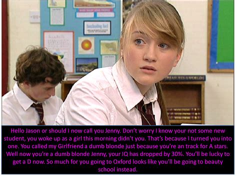 tg caption blonde girl hollyoaks tg captions takes a dumb blonde to know a dumb