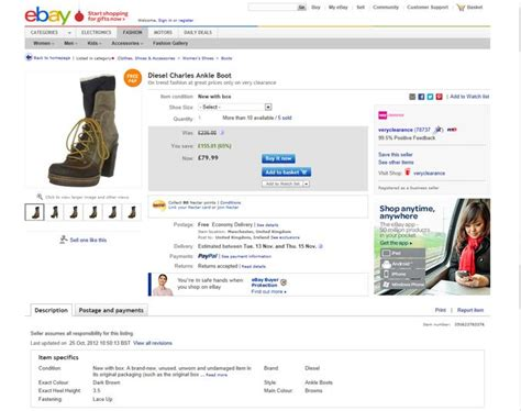 templates for ebay listings ebay uk test new versions of view item page tamebay