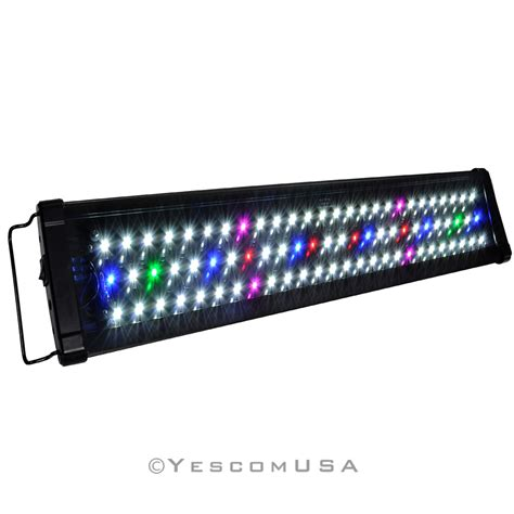 36 inch aquarium light 0 5w 24 quot 36 quot 48 quot multi color led aquarium light full spec