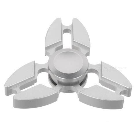 Fidget Spinner 2 Side Sisi Metal Silver Premium Shodz zanhoo metal zinc alloy tri fidget finger spinner