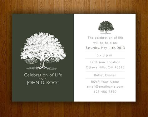 funeral announcement cards templates mourning card for memorial funeral announcements or invites