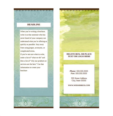 trifold brochure in word avivah co