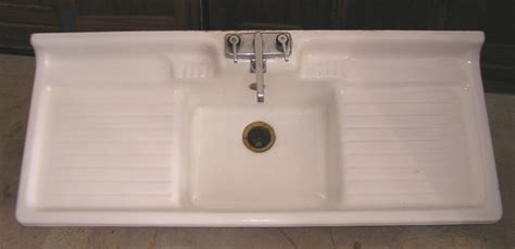Vintage Kitchen Sink Antique Drainboard Images Frompo 1