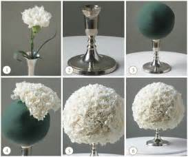 diy wedding ideas white carnation centerpiece ball