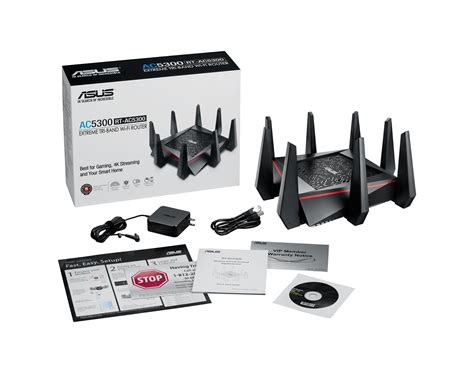 Router Wifi Tri asus ac5300 wifi tri band gigabit wireless router with 4x4 mu mimo 4x lan ports