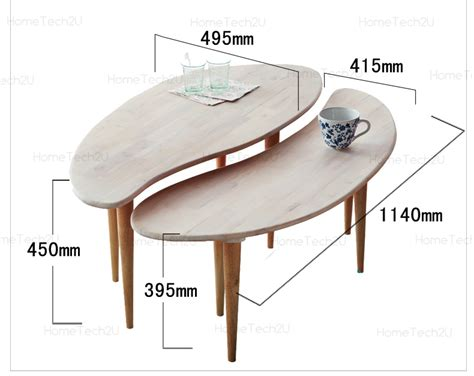 modern 2 in 1 bean connected coffee table
