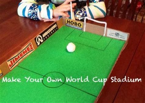 How To Make A Table Football Out Of Paper - tabletop soccer world cup craft