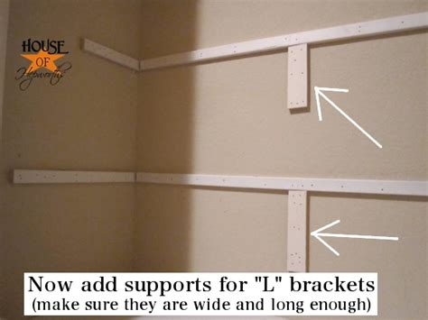 how to install shelves in a closet