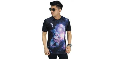 Kaos Pria Baju Pria Kaos Printing kaos printing galaxy astronaut kaos pria