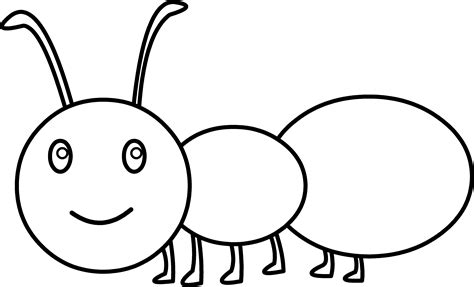 cute ant coloring page free clip art