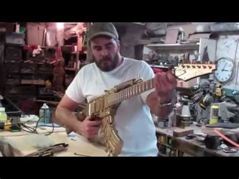 tutorial gitar cannon rock gitar listrik terbuat dari senjata ak47 doovi