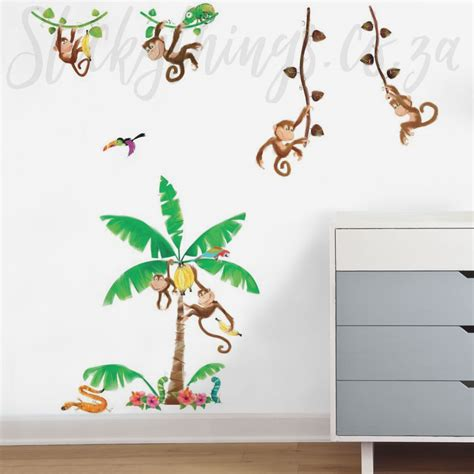 Monkey Wall Sticker monkey wall stickers monkey business wall decals
