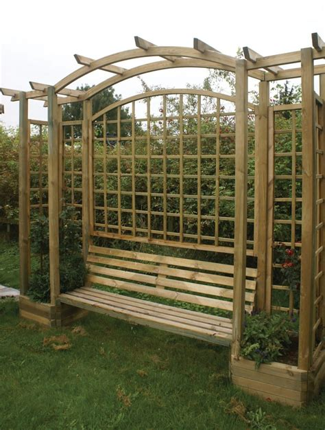 Arbor With Planters by 45 Garden Arbor Bench Design Ideas Diy Kits You Can