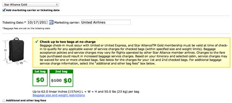 united baggage costs united airlines guts baggage allowance for star gold