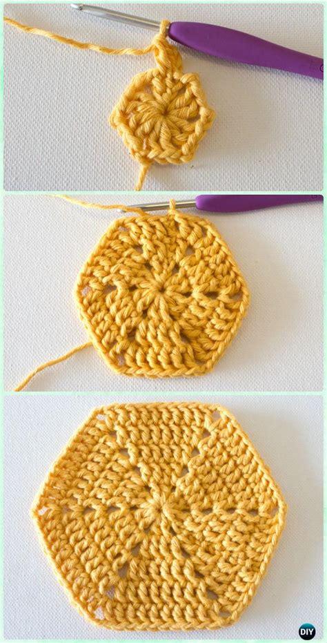 Crochet Hexagon Motif Free Patterns crochet hexagon motif free patterns