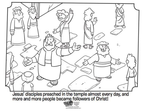 coloring pages book of acts peter preaching whats in the bible