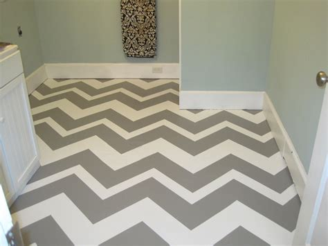 zig zag pattern painting white and gray painted color concrete floor tiles inside
