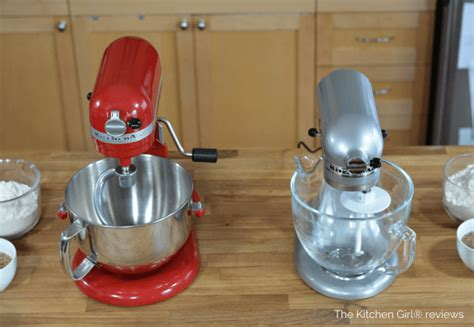 kitchenaid stand mixer artisan  professional  video review side  side