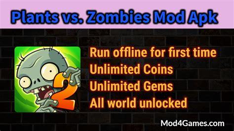 game mod offline unlimited plants vs zombies 2 mod apk unlimited coins gems