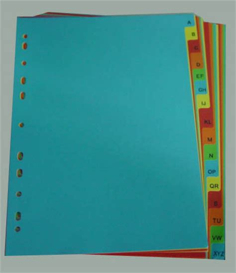 How To Make Paper Dividers - hunan raco enterprises co ltd paper divider and index