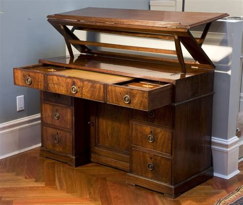 Antique George Iii Mahogany Architect S Desk Circa 1790 Standing Drafting Desk