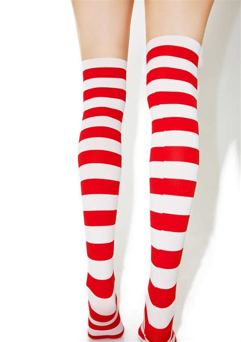 Stripe Tights rudolph reindeer stripe tights dolls kill