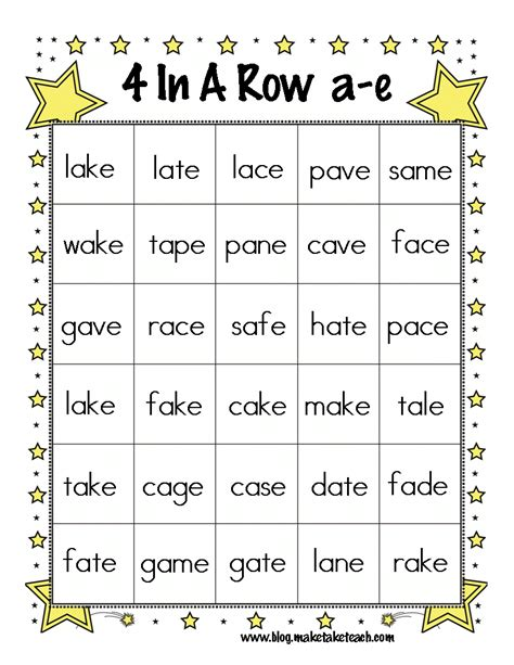 Magic E Worksheets by Activities For Teaching The Magic E Rule Make Take Teach