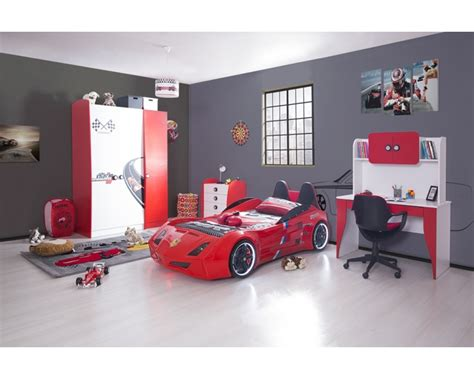 ferrari cat red car bedroom set boys bedroom set