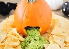 throwing up pumpkin guacamole a festive halloween party food