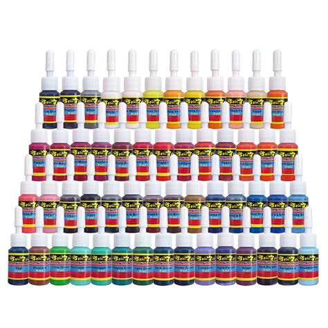 skin candy tattoo ink skin ink set 54 pack primary color the