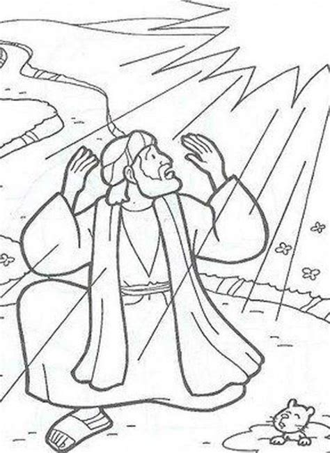 Crafts The O Jays And Search On Pinterest Saul On The Road To Damascus Coloring Page