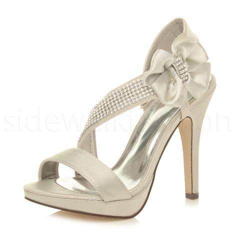 womens wedding bridal strappy prom high heel