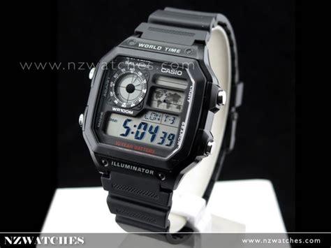 Casio Ae 1200wh 1bv Original buy casio 10yrs battery 5 alarms world time ae 1200wh 1a ae1200wh buy watches