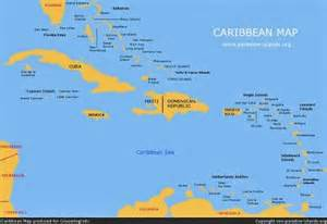 maps central american and the caribbean