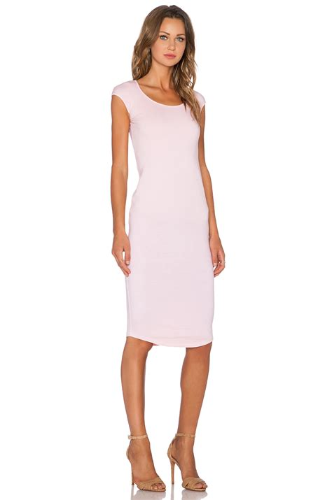 Dress Monrow Ym 1 monrow permanent collection cap sleeve dress in pink lyst