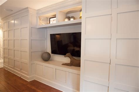 Concealed Door Storage Cabinet Built In Entertainment Center Design Ideas