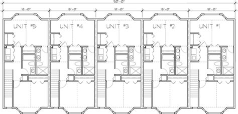 5 unit house plans 5 unit townhouse plans 2 bedrooms fv 568