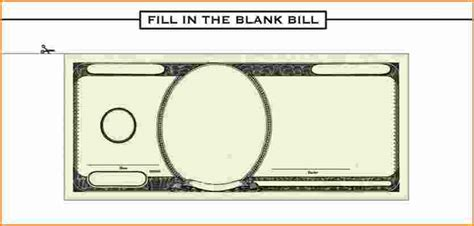 7 blank dollar bill template invoice template download