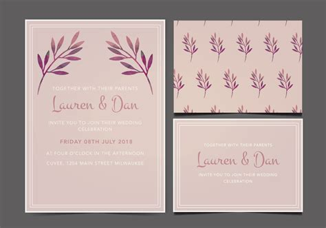 Wedding Invitations Graphics by Free Wedding Invitation Free Vector Stock