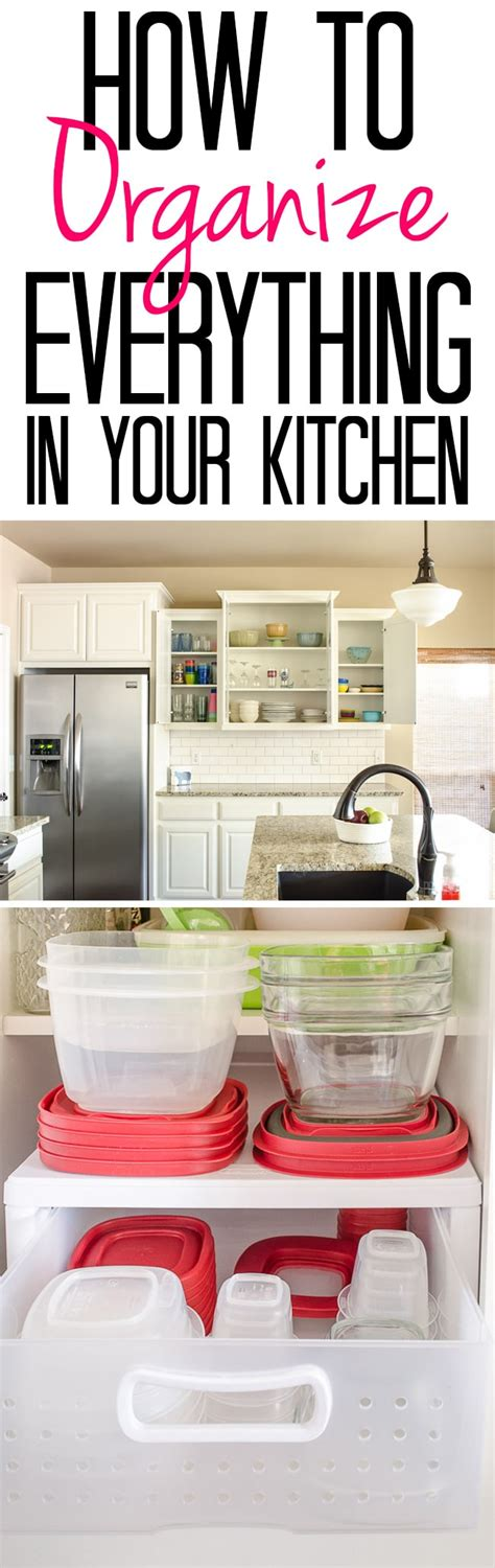 How To Organize Your Kitchen by How To Organize Everything In Your Kitchen Polished Habitat