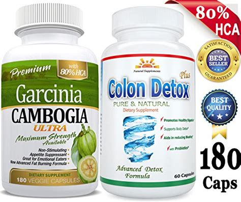 Cambogia Ultra Dan Cleanse Diet Herbal 180 caps 80 hca garcinia cambogia ultra extract colon detox 40 combo 3 months