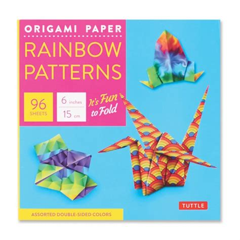 Origami Paper Review - rainbow patterns origami paper for small