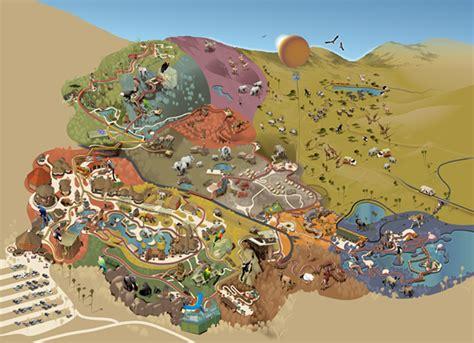 map san diego zoo safari park san diego zoo safari park on behance