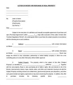Letter Of Intent Business Model 11 Purchase Letter Of Intent Templates Free Sle