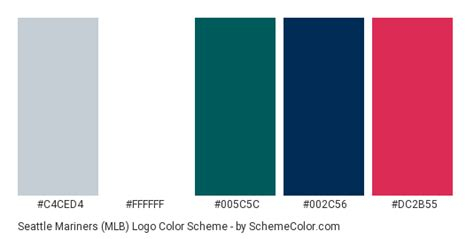 seattle mariners colors seattle mariners mlb logo color scheme 187 brand and logo