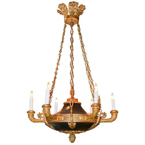 Empire Chandelier 19th Century Empire Bronze Chandelier For Sale At 1stdibs