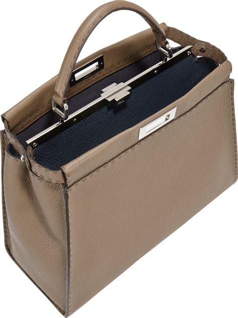 Fendi Peekaboo Brown fendi medium selleria peekaboo bag in brown lyst
