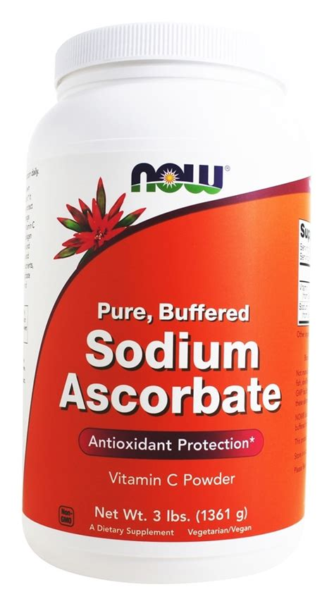 Sodium Ascorbate Detox Benzodiazepines by Buy Now Foods Sodium Ascorbate Vegetarian 3 Lbs At